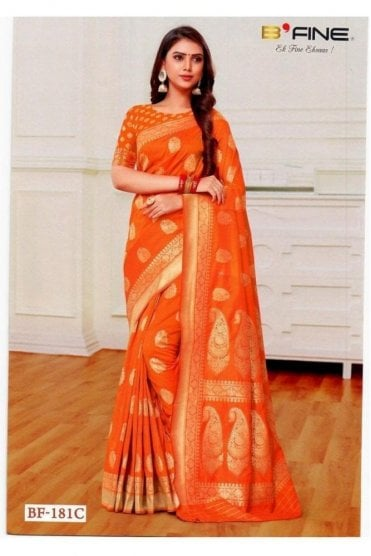 BEN19020-181C Mustard and Gold Benarasi Art Silk Saree