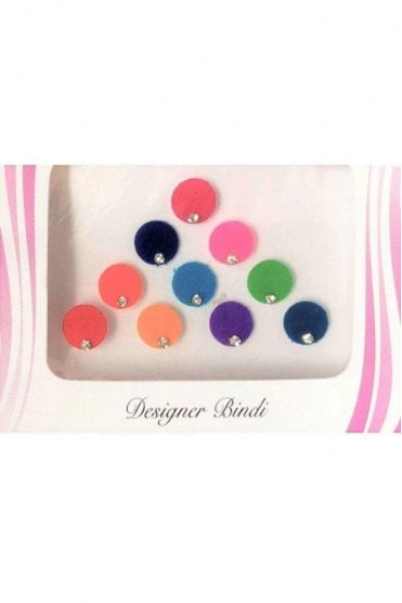 BIN511: Designer Pack of Multicoloured and Stone Bindi's / Tattoos
