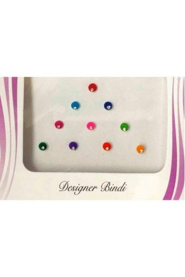 BIN512: Designer Pack of Multicoloured and Stone Bindi's / Tattoos