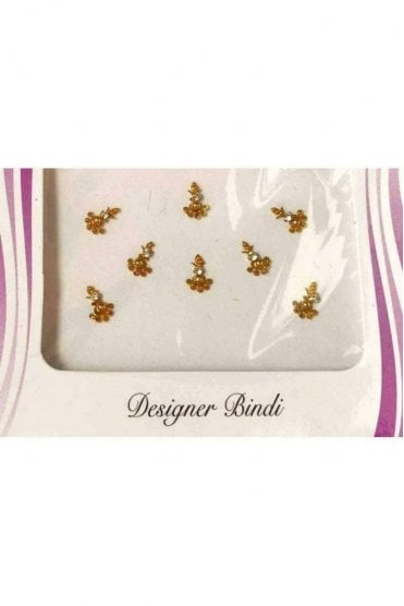 BIN541: Designer Pack of Gold and Stone, Bead and Thread Bindi's / Tattoos