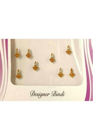 BIN542: Designer Pack of Gold and Stone, Bead and Thread Bindi's / Tattoos