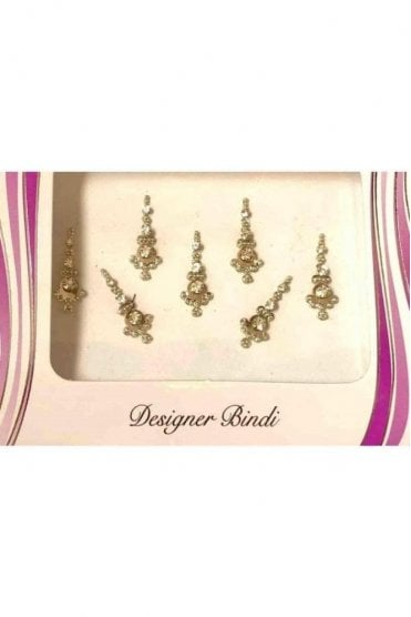 BIN560: Designer Pack of Silver and Stone, Bead and Thread Bindi's / Tattoos