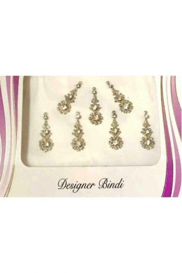 BIN562: Designer Pack of Silver and Stone, Bead and Thread Bindi's / Tattoos