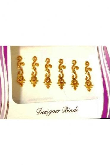 BIN564: Designer Pack of Gold and Stone, Bead and Thread Bindi's / Tattoos