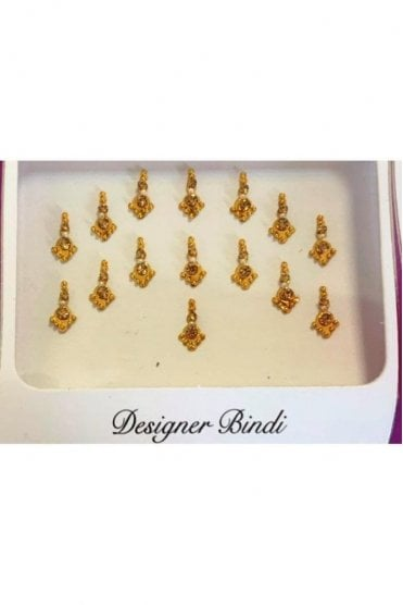 BIN650: Designer Pack of Gold and Stone, Bead and Thread Bindi's / Tattoos