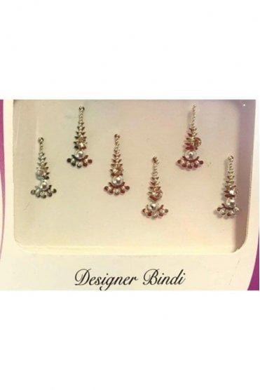 BIN888: Designer Pack of Silver and Stone, Bead and Thread Bindi's / Tattoos