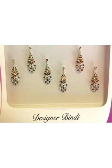 BIN890: Designer Pack of Silver and Stone, Bead and Thread Bindi's / Tattoos