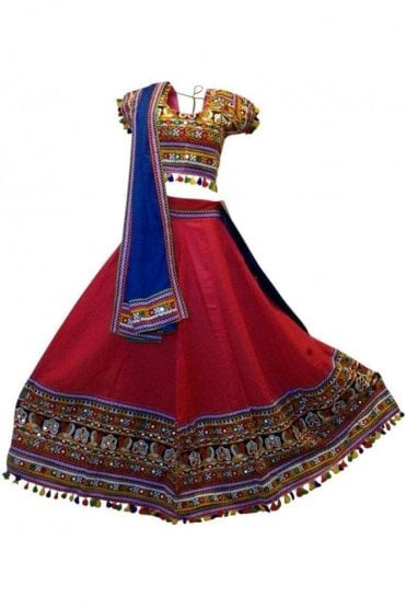 WCC19020 Stylish Pink and Blue Designer Navratri Special Chaniya Choli Lengha