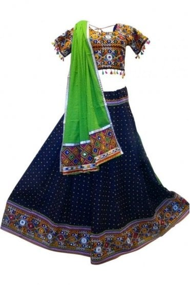 WCC19026 Gorgeous  Navy Blue and Green Designer Navratri Special Chaniya Choli Lengha