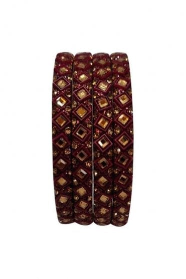 BAN20-04 Chocolate Brown and Gold Abla MirrorÿStone Womens Bangles