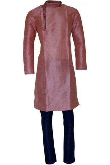 MPK19201 Pink and Blue Men's Kurta Pyjama