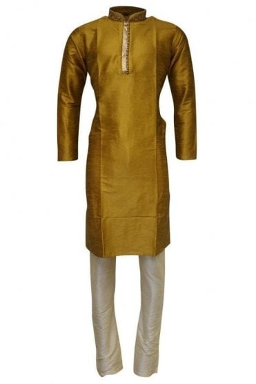 MPK19229 Maroon  and Gold Men's Kurta Pyjama
