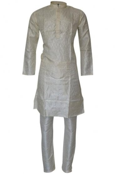 MPK19241 Ivory and Cream Men's Kurta Pyjama