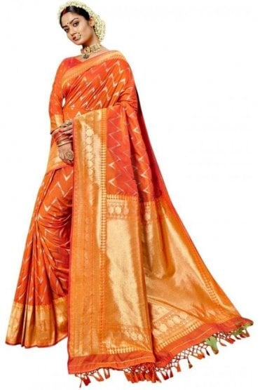 BEN19086-234C Mustard and Gold Benarasi Art Silk Saree