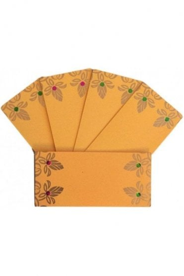 E103_GOL Pack of 5 Gold and Yellow Shagun Envelope Money Wallet
