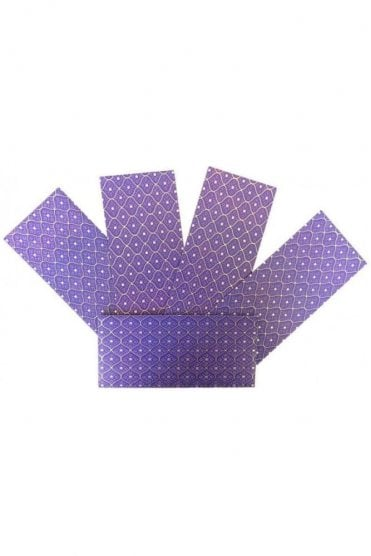 E169_PUR Pack of 5 Purple and Gold Shagun Envelope Money Wallet