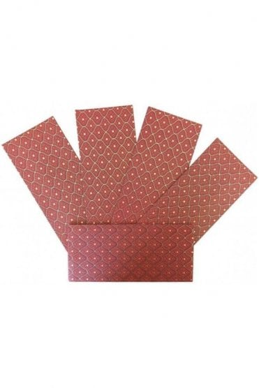 E171_RED Pack of 5 Red and Gold Shagun Envelope Money Wallet