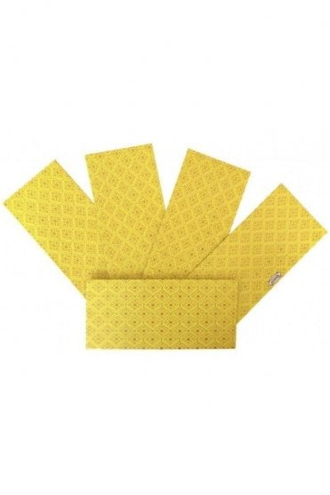 E174_YEL Pack of 5 Yellow and Gold Shagun Envelope Money Wallet