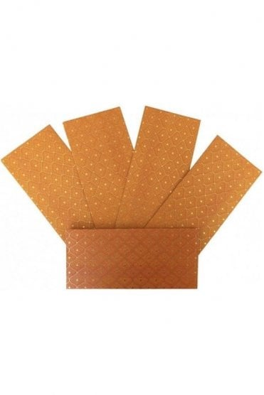 E175_ORA Pack of 5 Orange and Gold Shagun Envelope Money Wallet