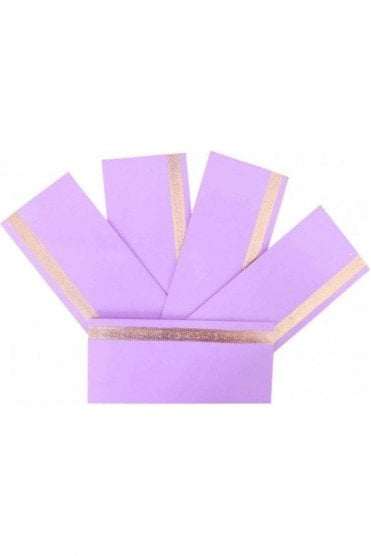 E183_LIL Pack of 5 Lilac and Gold Shagun Envelope Money Wallet