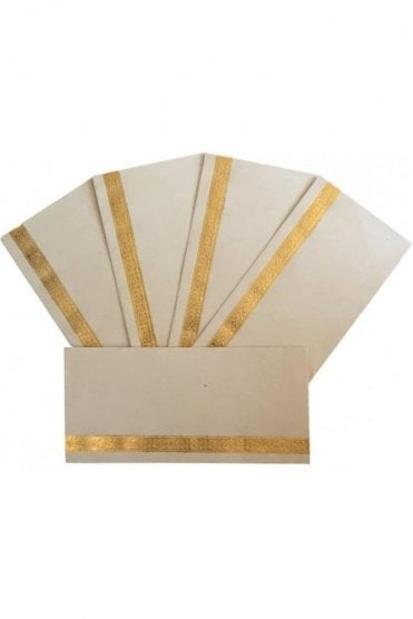 E19_IVO Pack of 5 Ivory and Gold Shagun Envelope Money Wallet