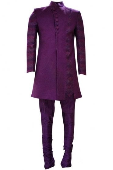 MTS19056 Purple and Pink Men's Sherwani Suit
