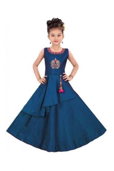 GCS19571 Blue and Pink Girl's Churidar Suit