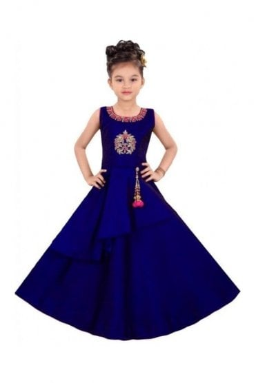 GCS19573 Blue and Pink Girl's Churidar Suit