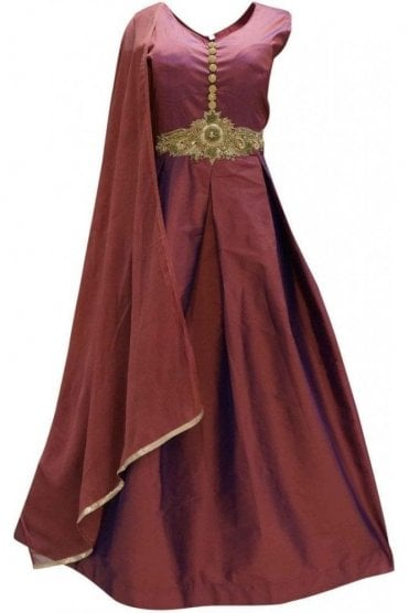 WPD19198 Purple and Gold Designer Churidar Suit Gown