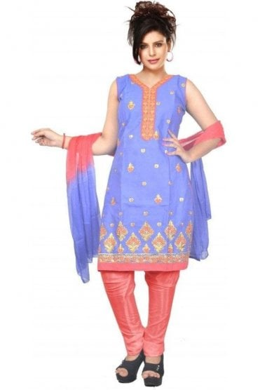 WCS19455 Purple and Pink Designer Churidar Salwar Kameez