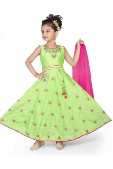 KCS20004 Green and Pink Girl's Churidar Suit