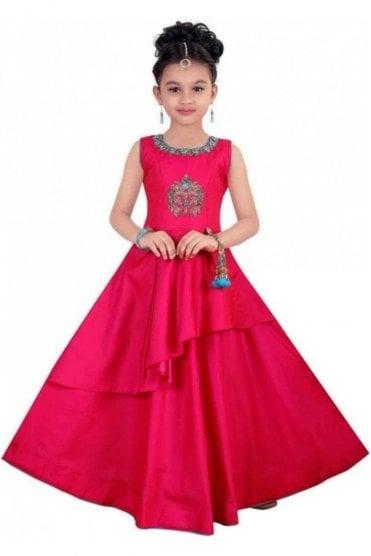 KCS20010 Pink and Blue Girl's Churidar Suit