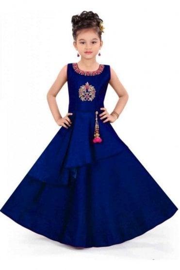 KCS20013 Navy Blue and Pink Girl's Churidar Suit