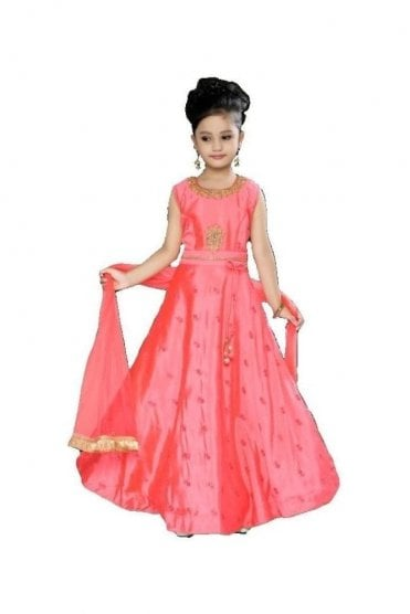 KCS20017 Pink and Gold Girl's Churidar Suit