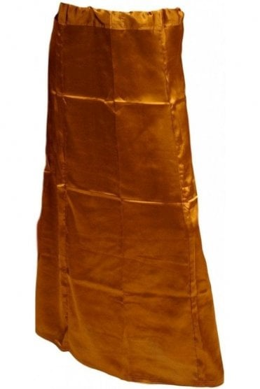 SPC20003 Brown Poly Satin Saree Sari Petticoat / Underskirt
