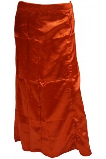 SPC20008 Red Poly Satin Saree Sari Petticoat / Underskirt