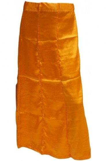 SPC20014 Mustered Orange Poly Satin Saree Sari Petticoat / Underskirt
