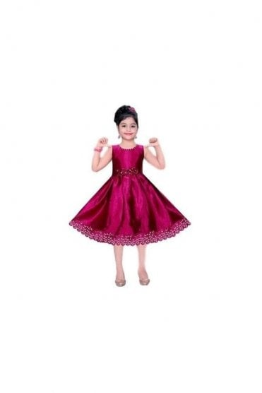 GPF20507 Exclusive Purple and Gold Girl's Party Dress