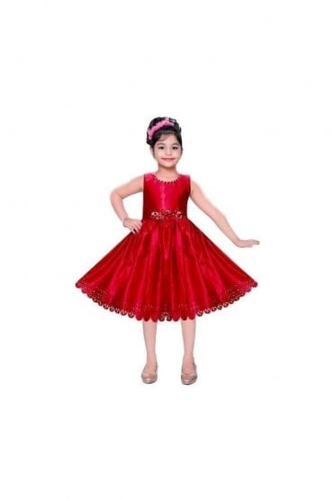 GPF20508 Gorgeous Red and Gold Girl's Party Dress