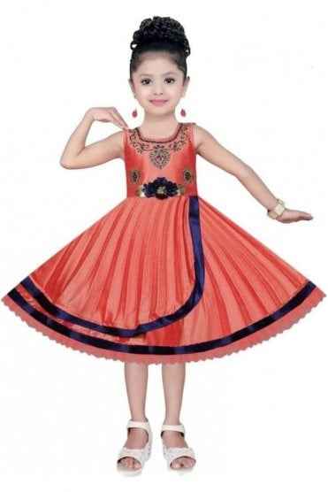 GPF20511 Exquisite Peach and Gold Girl's Party Dress
