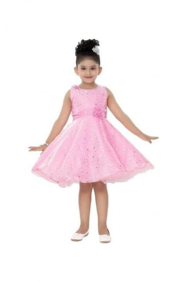 GPF20501 Stunning Pink and Siliver Girl's Party Dress