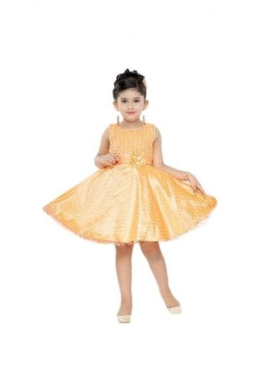 GPF20506 Popular Orange and Gold Girl's Party Dress