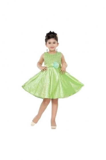 GPF20505 Fancy Green and Gold Girl's Party Dress