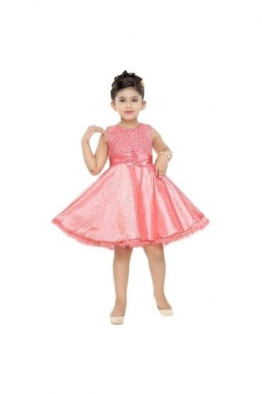 GPF20504 Stunning Pink and Gold Girl's Party Dress
